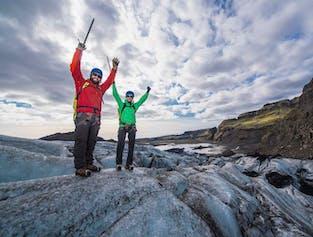 Randonnée sur le glacier Solheimajokull | Vêtement de pluie et chaussures inclus