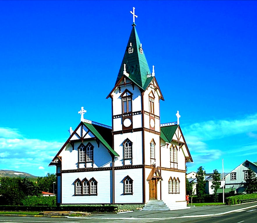 The church is the pride and joy of Húsavík Town
