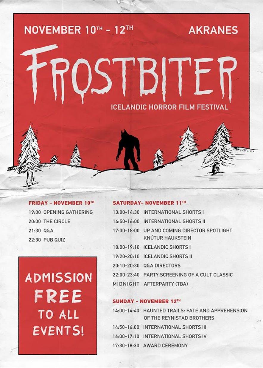 Frostbiter's schedule