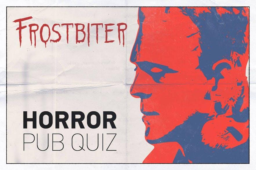 Frostbiter's pub quiz poster