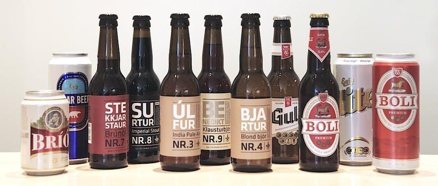 アイスランドのビールやリキュールは試しきれないほど種類がある