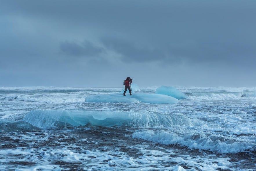 杰古沙龙冰河湖的浮冰