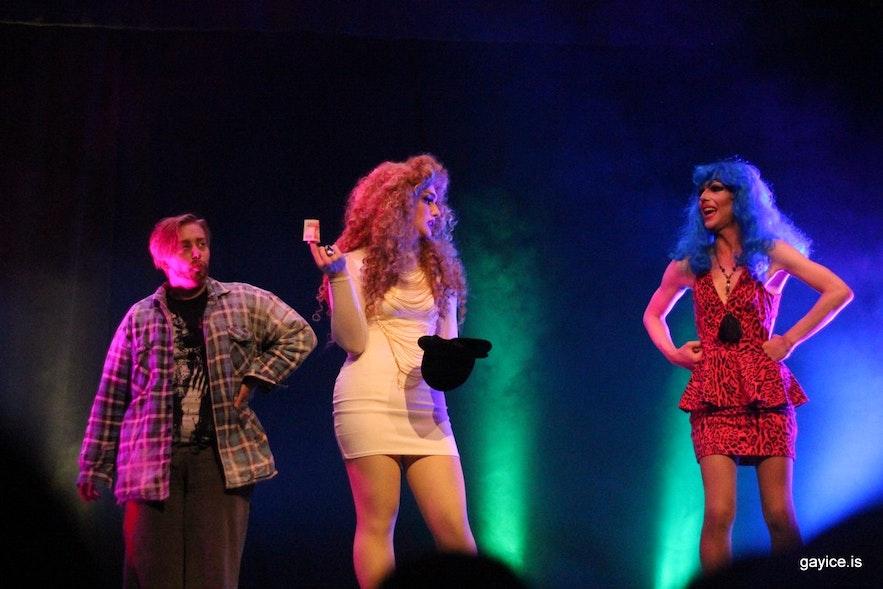 Yan Nuss, Gogo and Wanda Starr at Pride 2016