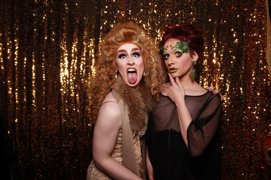 The creators of the current Icelandic drag scene, Gogo Starr and Ragna Rök