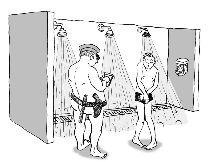 Those who try to avoid showering off will be punished accordingly.