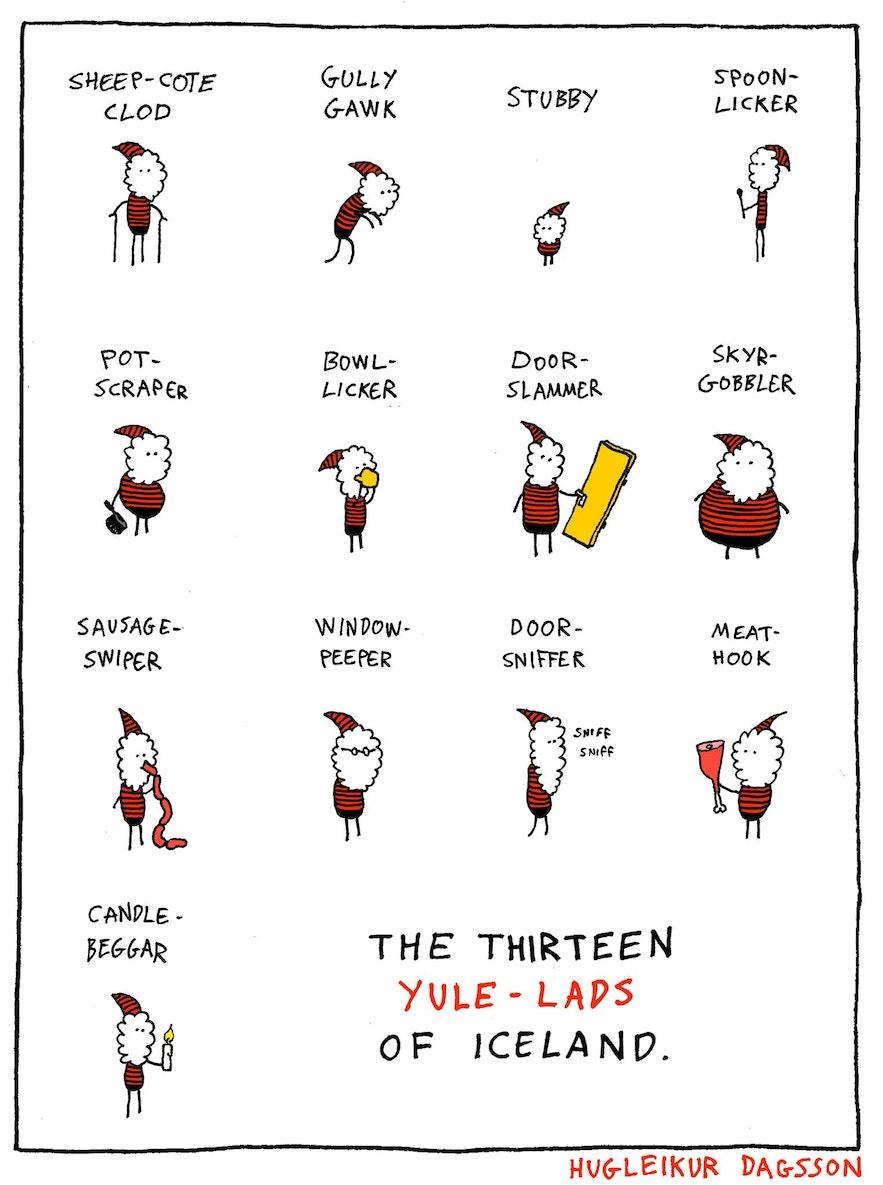 冰島13個聖誕老人 插畫