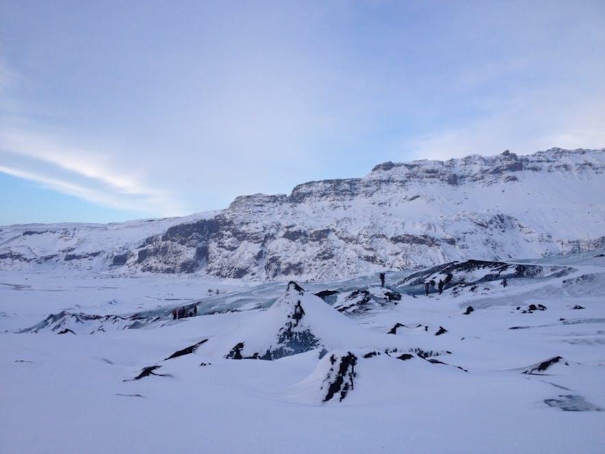 1月のソゥルヘイマヨークトル氷河