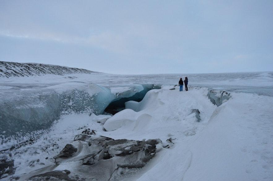 1月の氷の洞窟