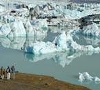 Icebergs at Jökulsárlón glacial lagoon