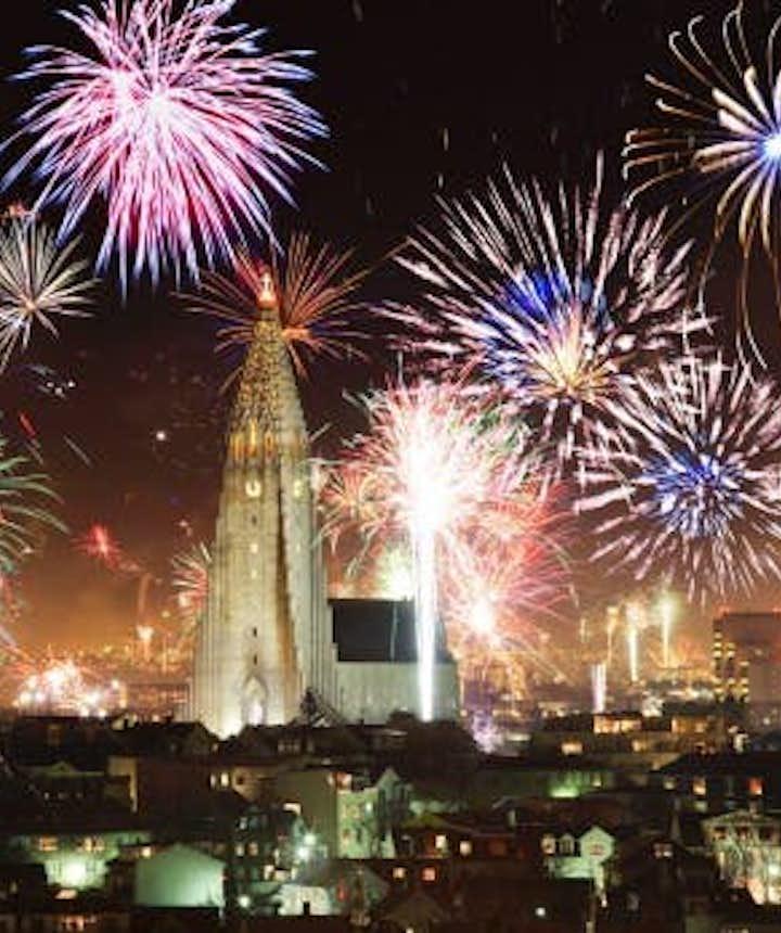 冰島新年跨年煙花