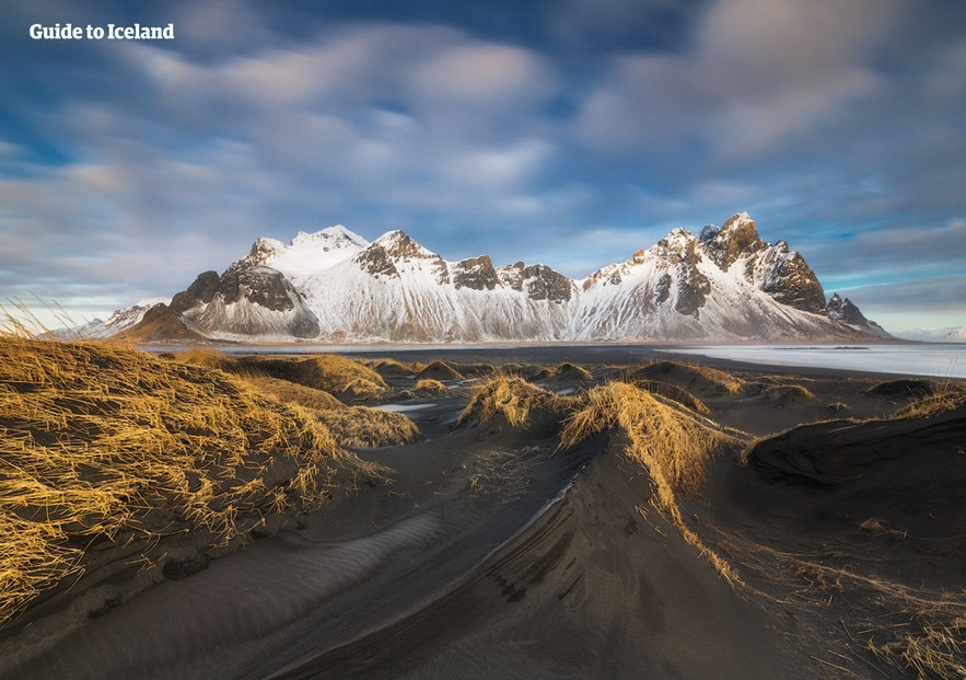 The dramatic mountain, Vestrahorn, in East Iceland.