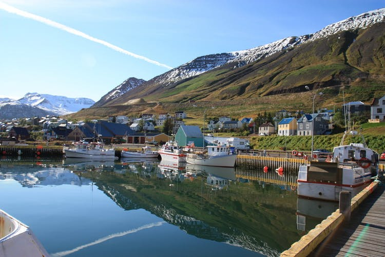 The old fishing village Siglufjordur