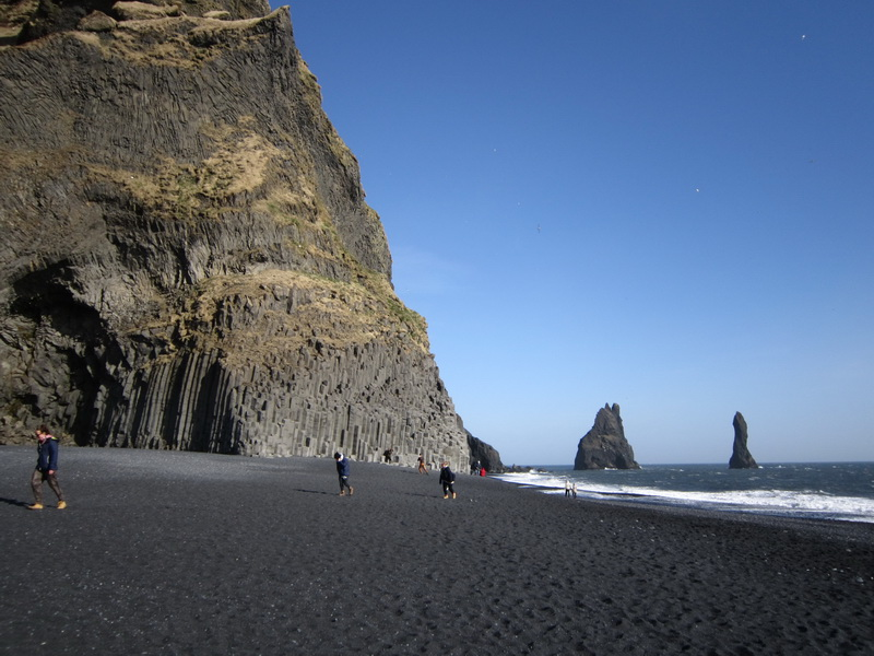 Reynisfjara black sand beach and Reynisdrangar cliffs, south Iceland