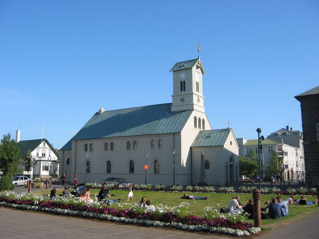 Reykjavik cathedral, downtown Reykjavik