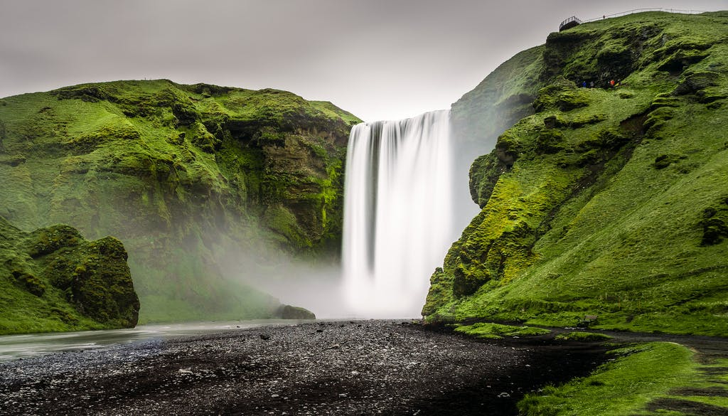 South Coast Waterfalls and Black beach by Minibus