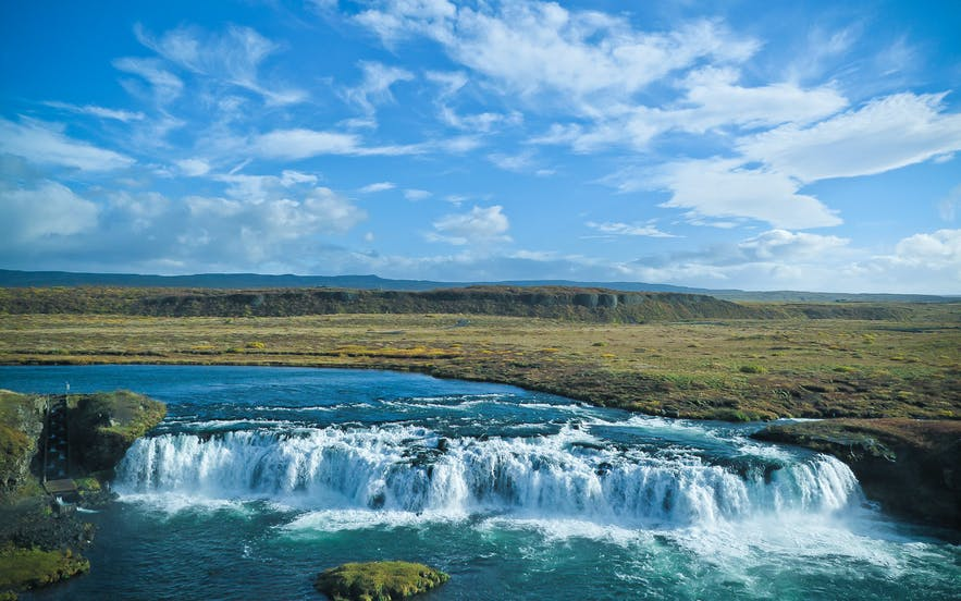 Vatnsleysufoss is also know as 'Faxi'.