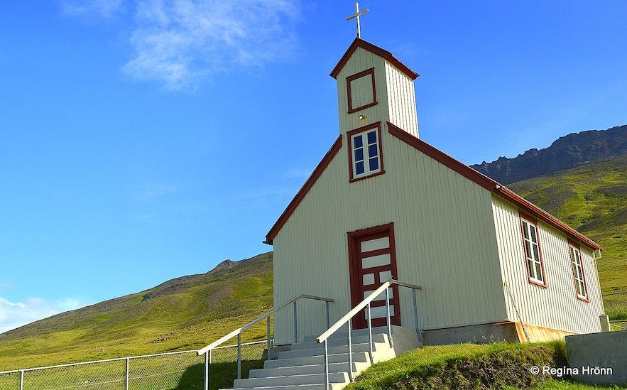 Hvammskirkja church at Skagi North-Iceland
