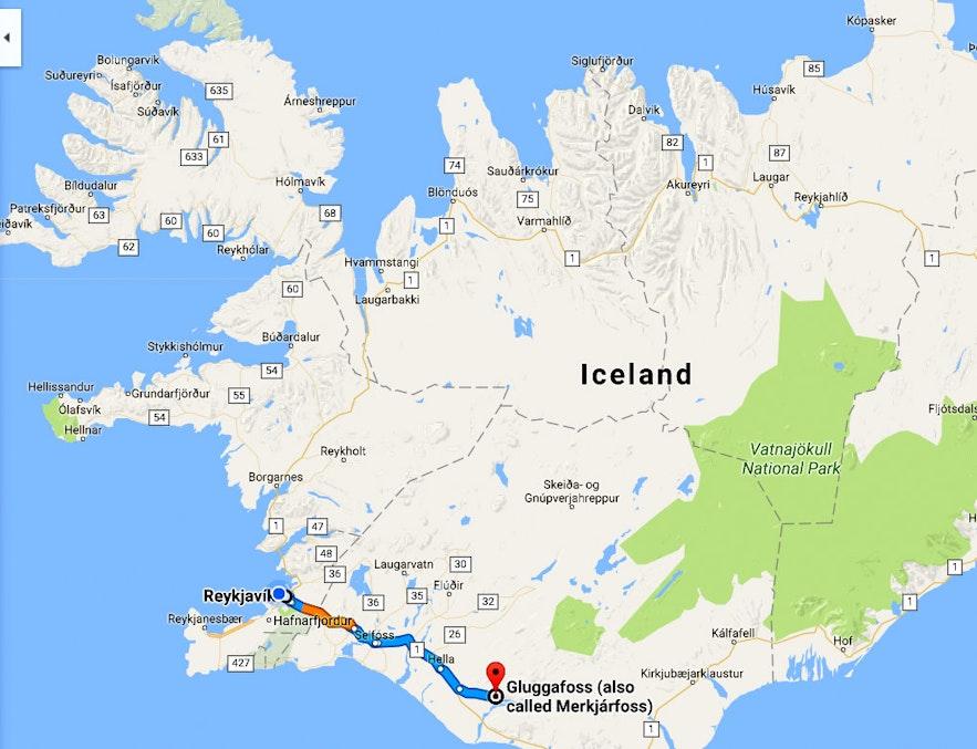 The beautiful Fljótshlíð in South-Iceland - Gluggafoss and Gunnar at Hlíðarendi