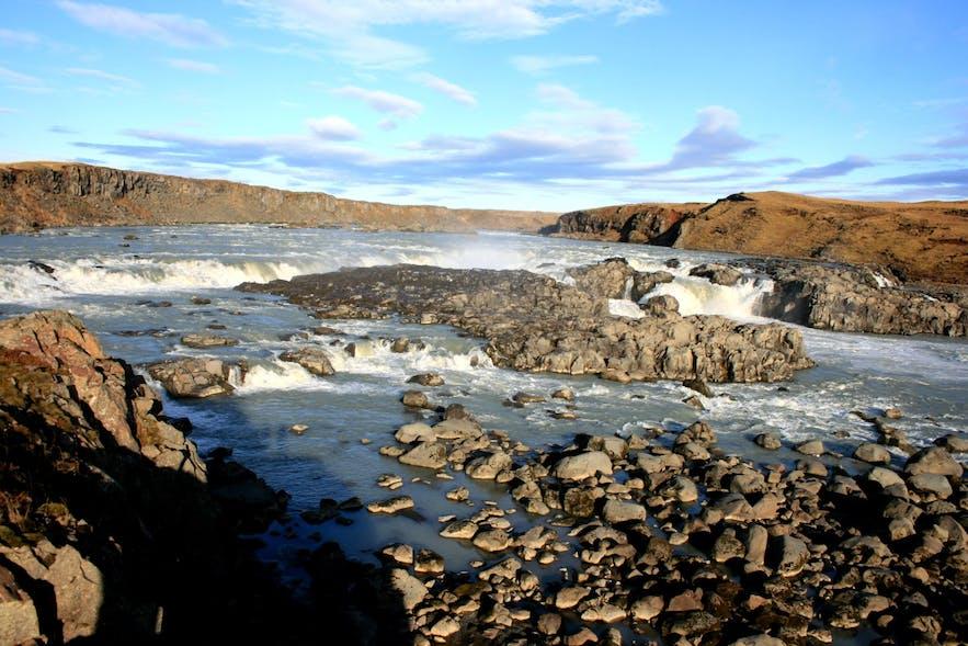 Urriðafoss beneath the sun