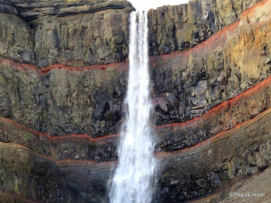 Hengifoss is Iceland's third highest waterfall.