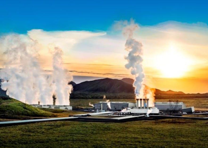 赫利舍迪地热展览馆位于冰岛西南部