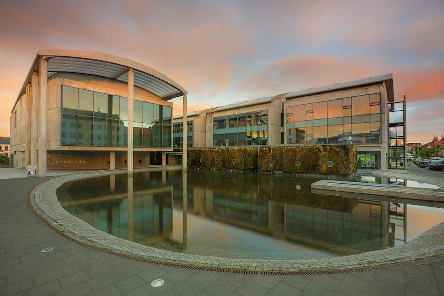 Reykjavík City Hall in the morning sun