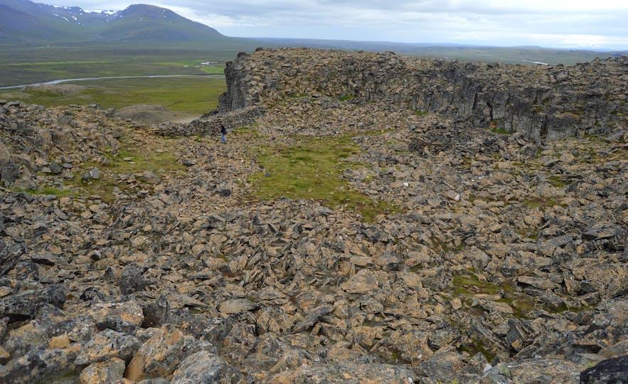 Borgarvirki (Citadel) is both natural and man-made.