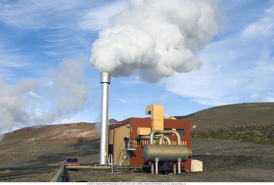 Bjarnaflag是一座地热发电站