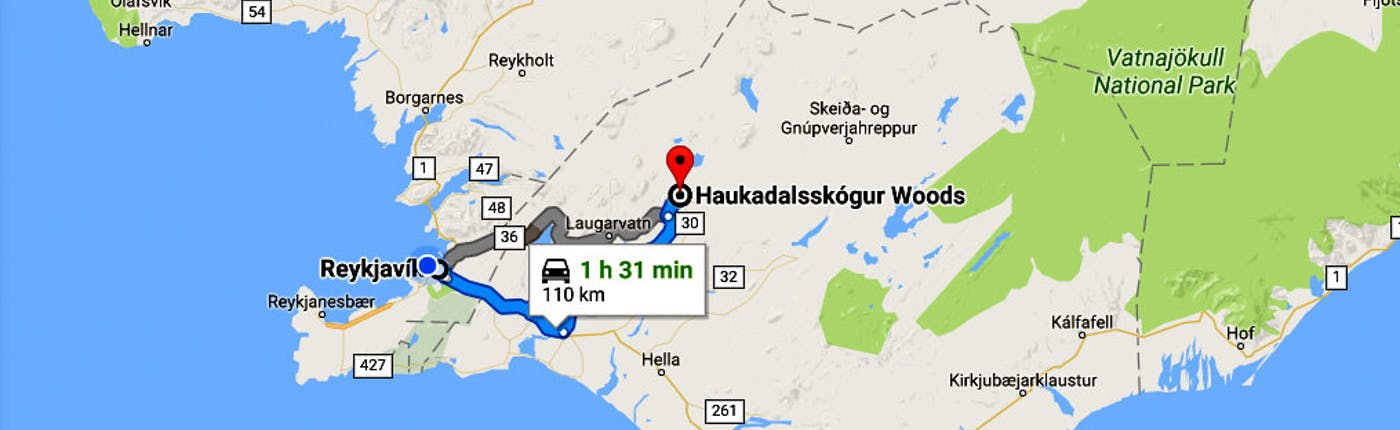 A Visit to the Icelandic Haukadalsskogur Forest with a Dip in Kualaug Hot Pool
