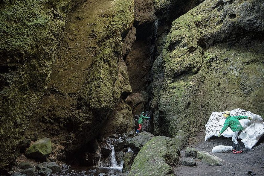 The gorge is big enough to clamber inside, allowing you to get right inside the mountain.