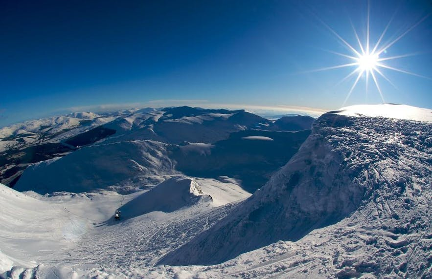 Skalafell is one of two ski resorts near to Iceland's capital.