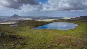 Spákonuvatn火山口湖