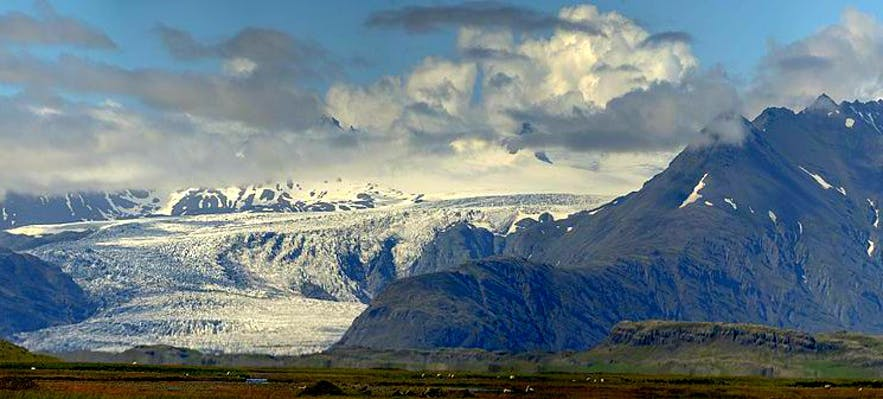 Fláajökull is one of hundreds of glacier tongues that extend from Iceland's largest ice cap, Vatnajokull.