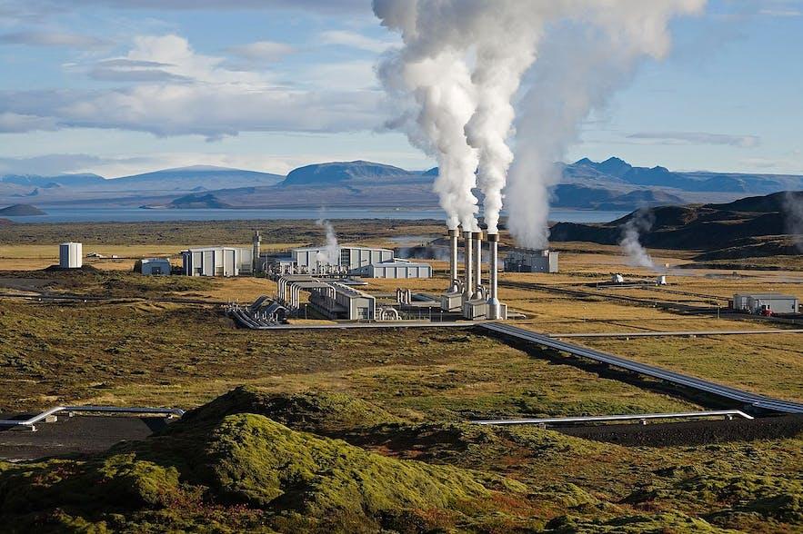 Nesjavallavirkjun is one of Iceland's many geothermal power plants.
