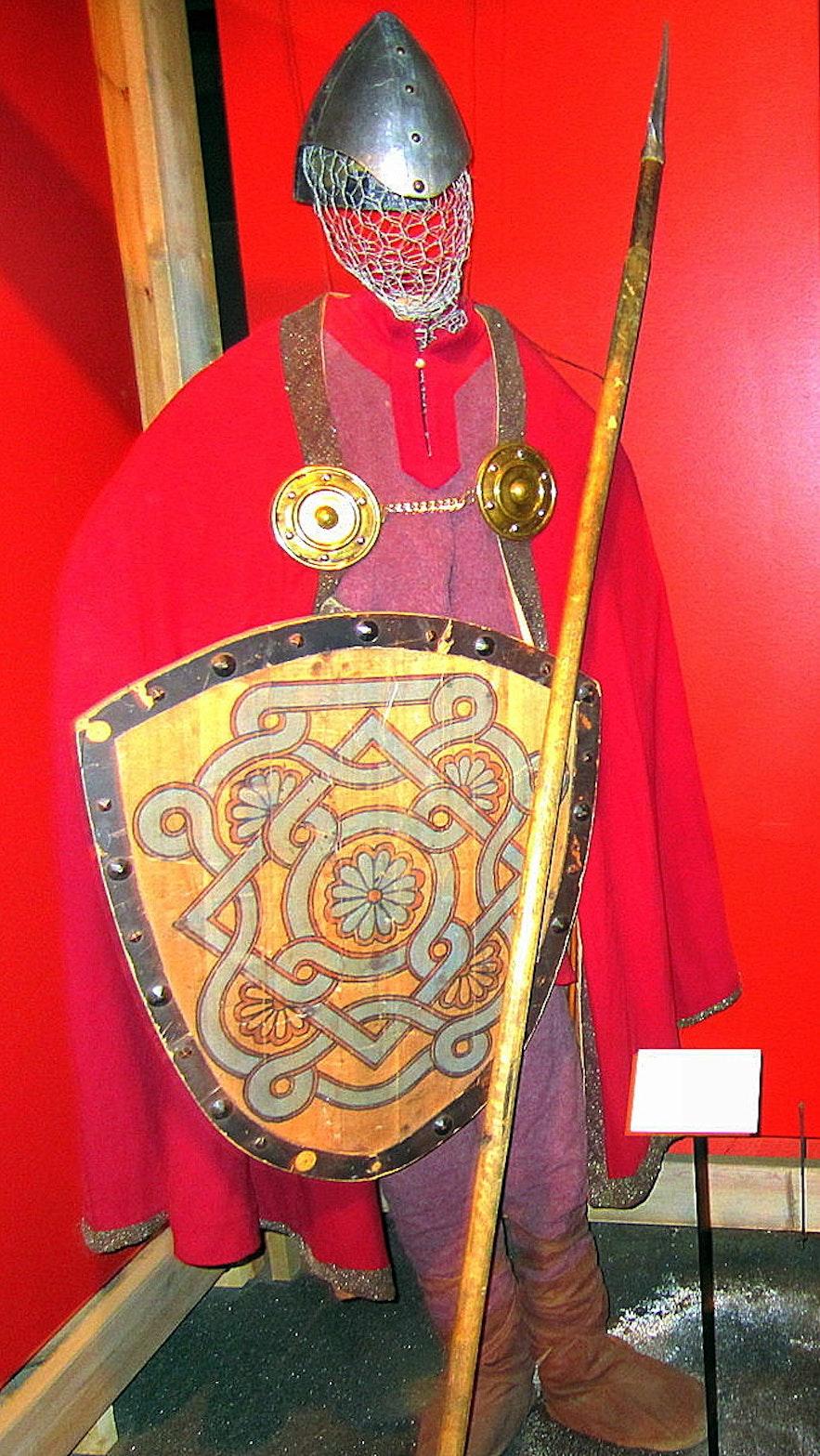 The costume of Gunnar at Hlíðarendi at the Saga Centre