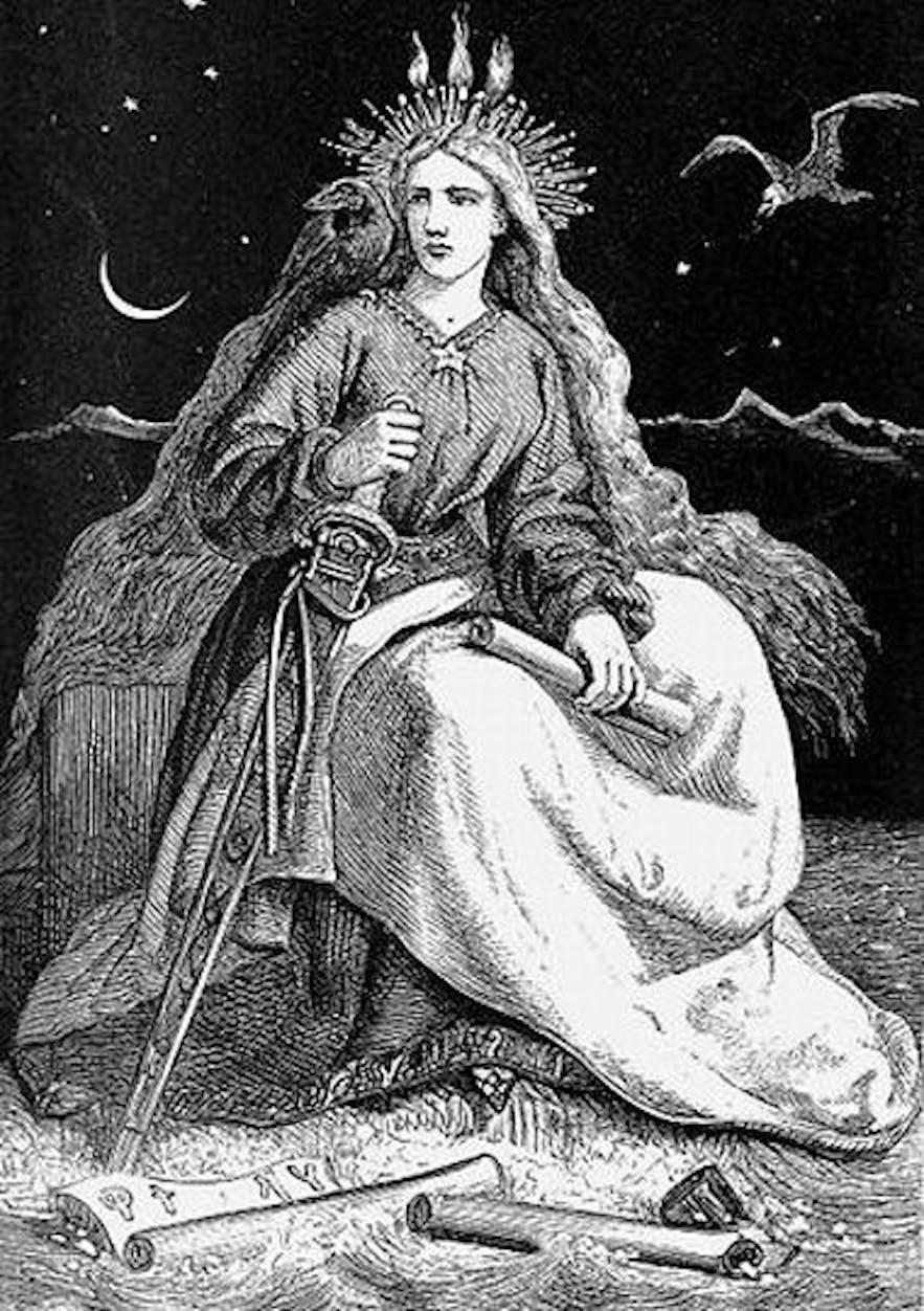 Fjallkona, the Lady of the Mountain