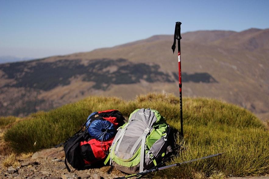 Die notwendige Ausrüstung ist für jede komfortable Wanderung unerlässlich.