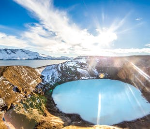 ミーヴァトン発|スーパージープで行くアスキャ湖とホルフロイン溶岩台地