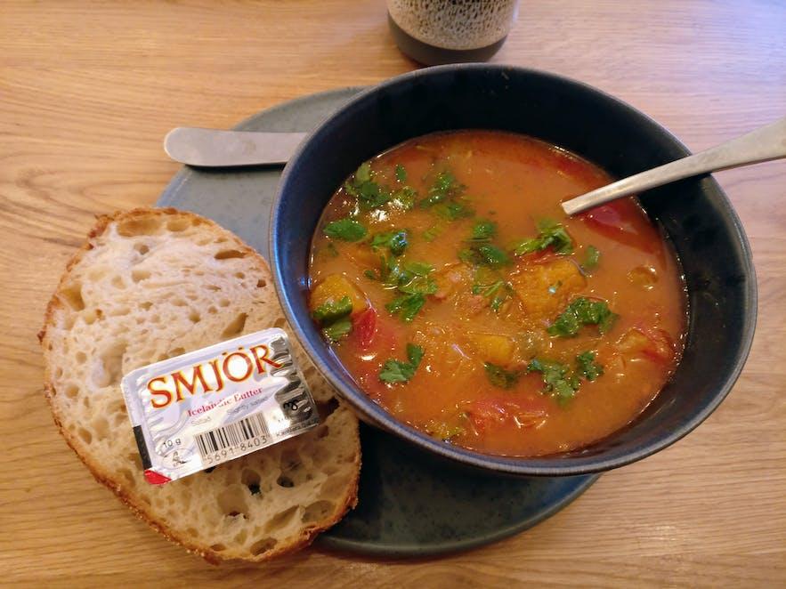 レイキャビクではスープも人気
