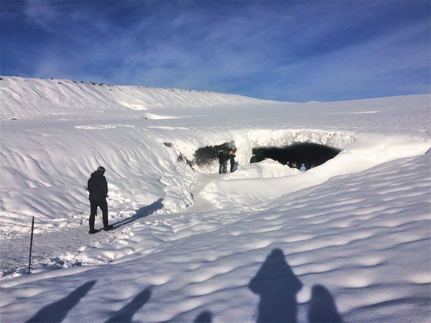 Der Eingang unserer Eishöhle