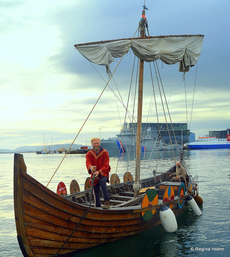 A replica of a Viking ship in Iceland