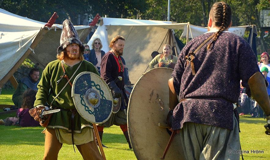 Vikings from the Viking club Rimmugýgur in Iceland