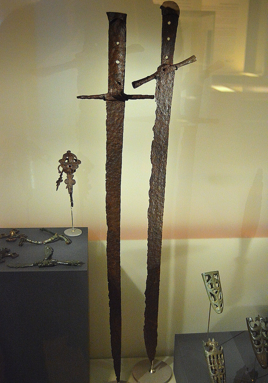 Authentic Viking Swords at the National museum of Iceland