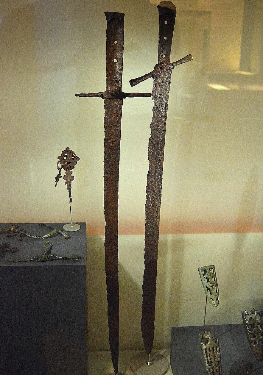Viking swords at Þjóðminjasafnið - the National Museum