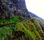 This steep mountain road in the Icelandic Westfjords was paved by only two men using one bulldozer.