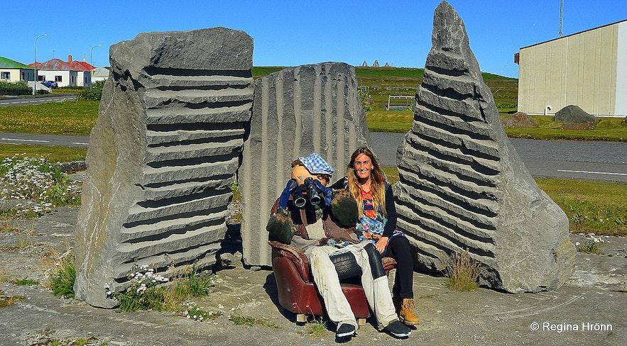 Regína at Raufarhöfn village NE-Iceland
