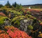Þingvellir National Park is beautiful draped in its autumn colours.
