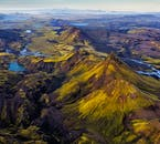 An aerial shot over the Central Icelandic Highlands.