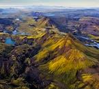 Eine Luftaufnahme über dem zentralen isländischen Hochland.