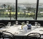 The restaurant in Perlan is on the 5th floor, providing amazing views of Reykjavík